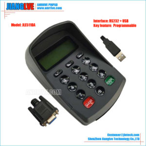 JLE511DA RS232+USB programmable RS232 keypad
