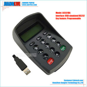 JLE531DA USB simulated RS232 programmable pinpad