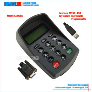 JLE570DA RS232+USB programmable encrypt pin pad