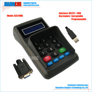JLE570DB  RS232+USB programmable encrypt pin pad