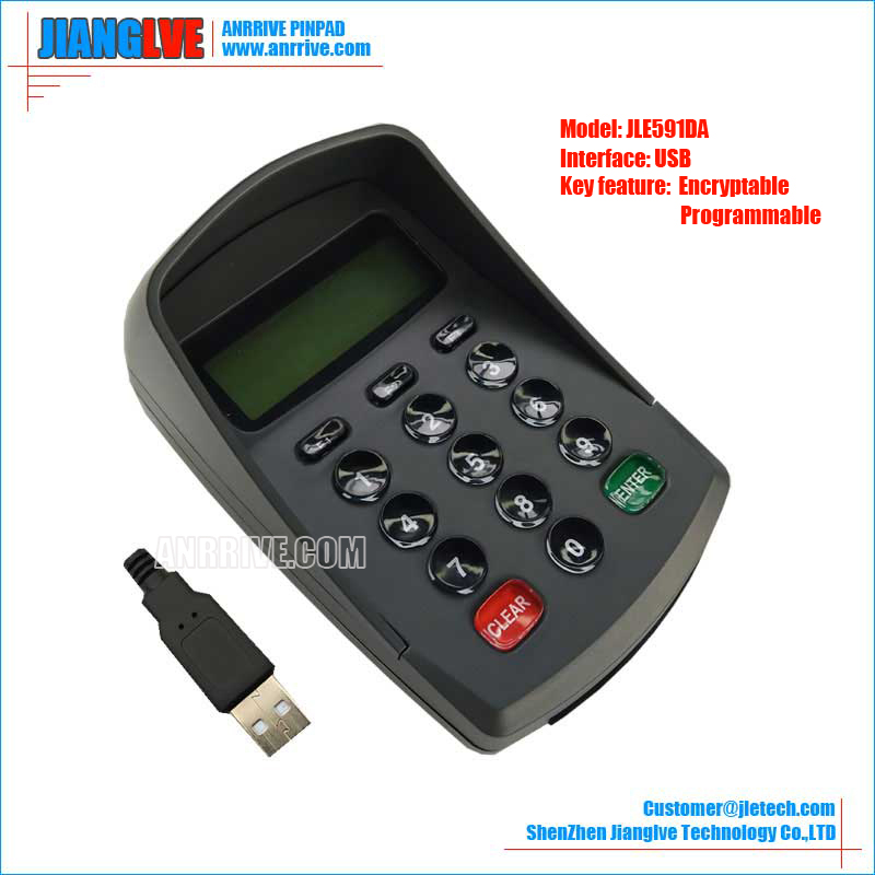 JLE591DA USB programmable encrypted pin pad